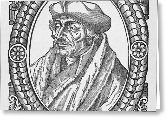 Desiderius Erasmus, Dutch Theologian Greeting Card by Middle Temple Library