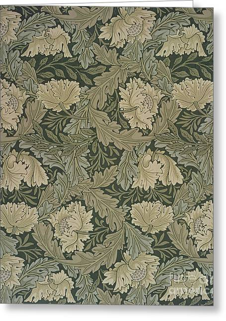 Lea Greeting Cards - Design for Lea wallpaper Greeting Card by William Morris