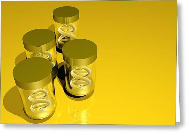 Quartet Greeting Cards - Designer Dna In Bottles, Artwork Greeting Card by Victor Habbick Visions