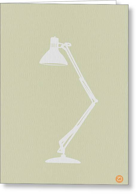 Desk Greeting Cards - Desk Lamp Greeting Card by Naxart Studio