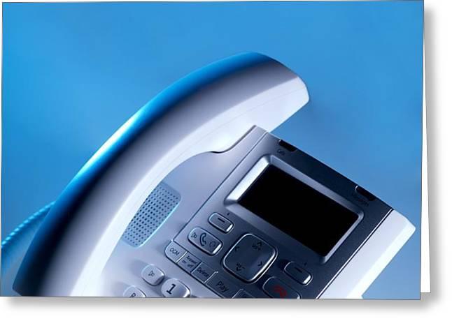 Desk Telephone Greeting Card by Tek Image