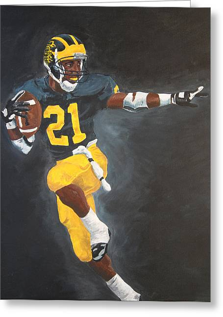 Howard Greeting Cards - Desmond Heisman Greeting Card by Travis Day