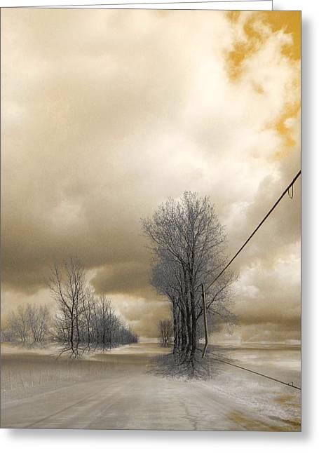 Elfriede Fulda Greeting Cards - Desolate Greeting Card by Elfriede Fulda