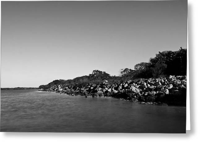 Tampa Greeting Cards - DeSoto Landing - BW Greeting Card by Nicholas Evans