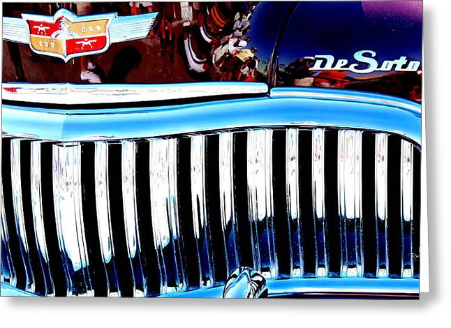Desoto Car Greeting Cards - DeSoto Greeting Card by Russ Harris