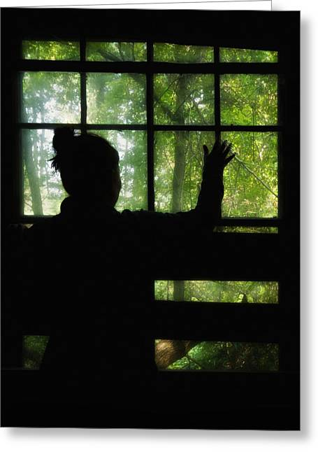 Silhouettes Greeting Cards - Desperate Ways Greeting Card by Evelina Kremsdorf