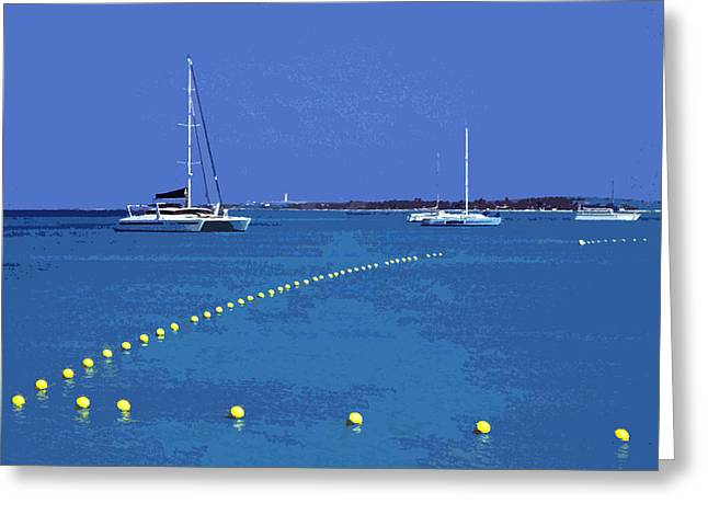 Insel Greeting Cards - Destination AUA ... Greeting Card by Juergen Weiss