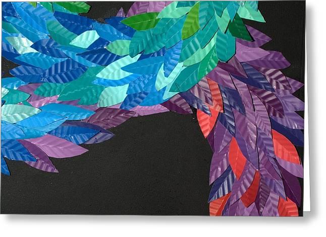 Reptiles Sculptures Greeting Cards - Detail - KUKULKAN Greeting Card by Mitza Hurst