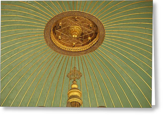 Hagia Sofia Greeting Cards - Detail Of Ceiling Of Washing Area Greeting Card by Axiom Photographic