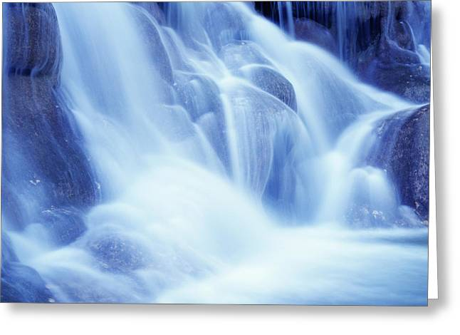 Dunn Greeting Cards - Detail Of Dunns River Falls Greeting Card by Axiom Photographic