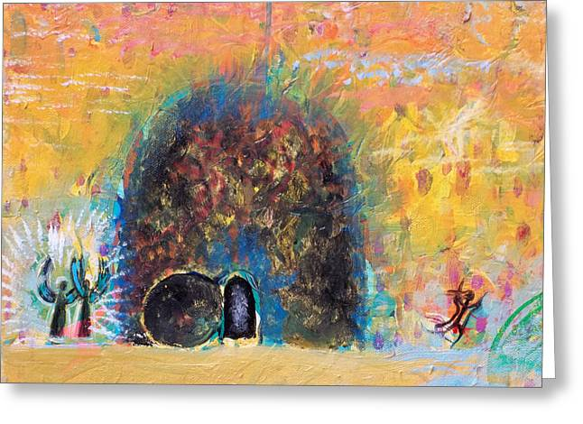 Anne Cameron Cutri Greeting Cards - Detail of Empty Tomb Greeting Card by Anne Cameron Cutri