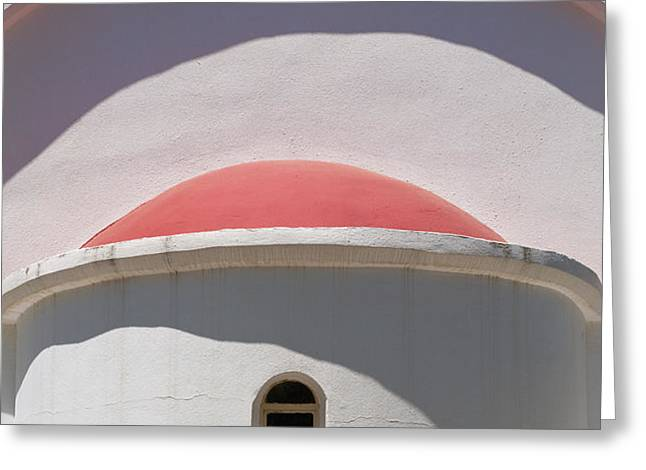 Detail Of Small Church Between Limnes Greeting Card by Axiom Photographic