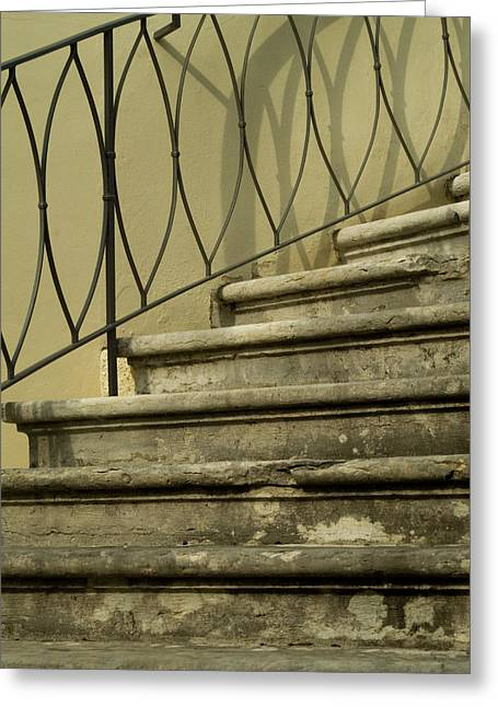 Winding Staircases Greeting Cards - Detail Of Winding Staircase Greeting Card by Todd Gipstein