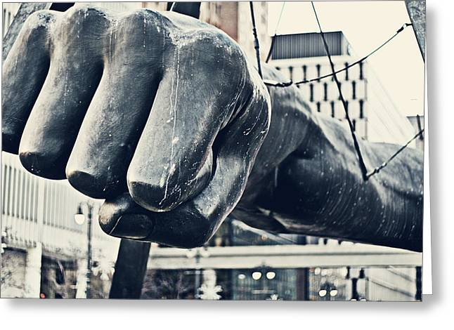 Fist Greeting Cards - Detroit Joe Louis Fist - Color Greeting Card by Alanna Pfeffer