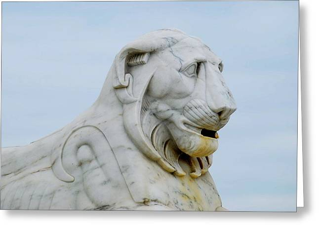 Belle Isle Greeting Cards - Detroit Lion Greeting Card by Michael Peychich