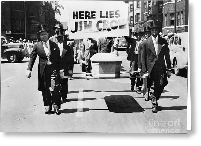 Protest Greeting Cards - Detroit: Naacp Parade, 1944 Greeting Card by Granger