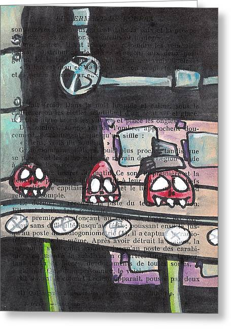 Toxic Mixed Media Greeting Cards - Detruit Greeting Card by Jera Sky