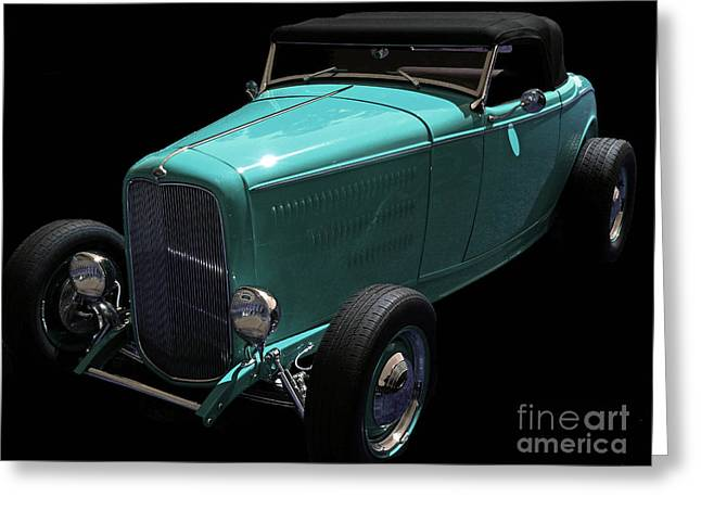 Collector Car Mixed Media Greeting Cards - Deuce Coupe Greeting Card by Jerry L Barrett