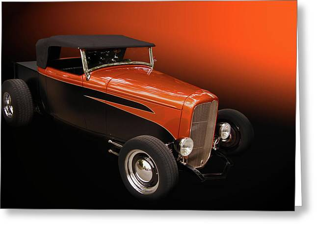 32 Ford Truck Greeting Cards - Deuce Pickup Greeting Card by Bill Dutting