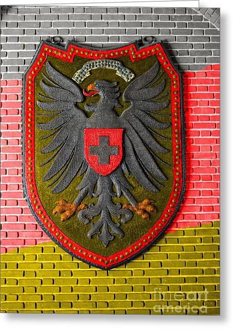 Zion Lutheran Church Greeting Cards - Deutsch Weimarer Shield Greeting Card by Jost Houk
