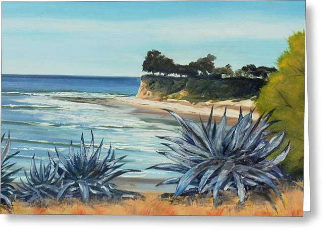 Recently Sold -  - Ocean Vista Greeting Cards - Devereux Agaves Greeting Card by Jeffrey Campbell