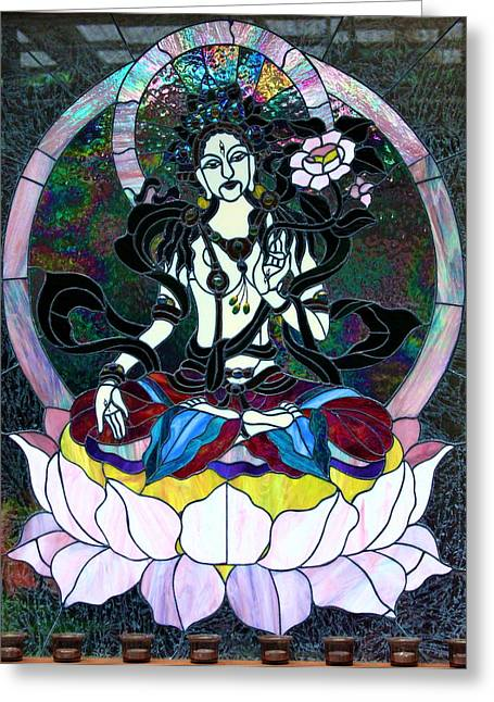 Hindu Goddess Photographs Greeting Cards - Devi Shakti Goddess Greeting Card by Karon Melillo DeVega