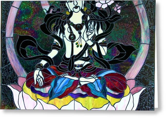 Devi Shakti Goddess Greeting Card by Karon Melillo DeVega