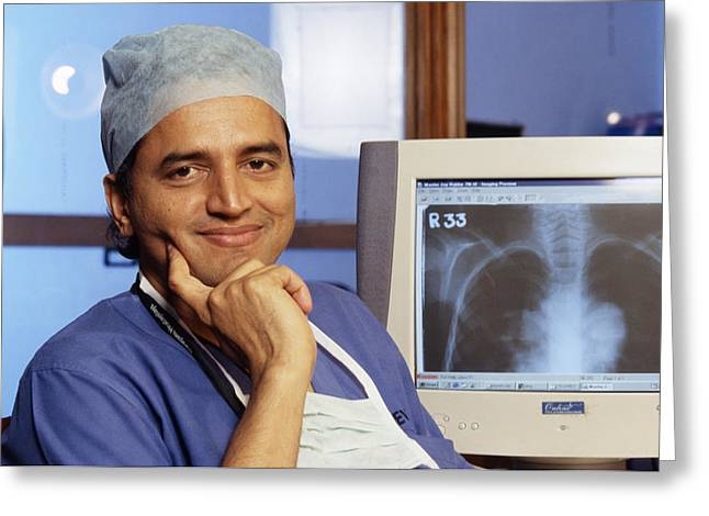 Devi Greeting Cards - Devi Shetty, Indian Surgeon Greeting Card by Volker Steger