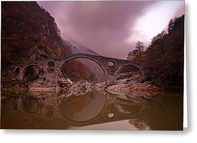 Bridge Greeting Cards - Devils Bridge Greeting Card by Evgeni Dinev