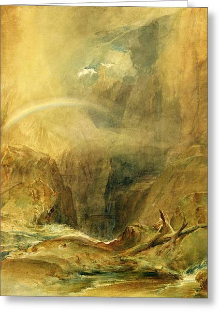 Craggy Greeting Cards - Devils Bridge Greeting Card by Joseph Mallord William Turner