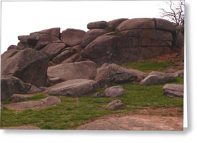 Devils Den Greeting Cards - Devils Den at Gettysburg Greeting Card by David Bearden