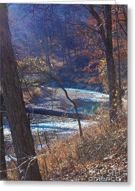 Recently Sold -  - Devils Den Greeting Cards - Devils Den State Park Creek Greeting Card by Patty Vicknair