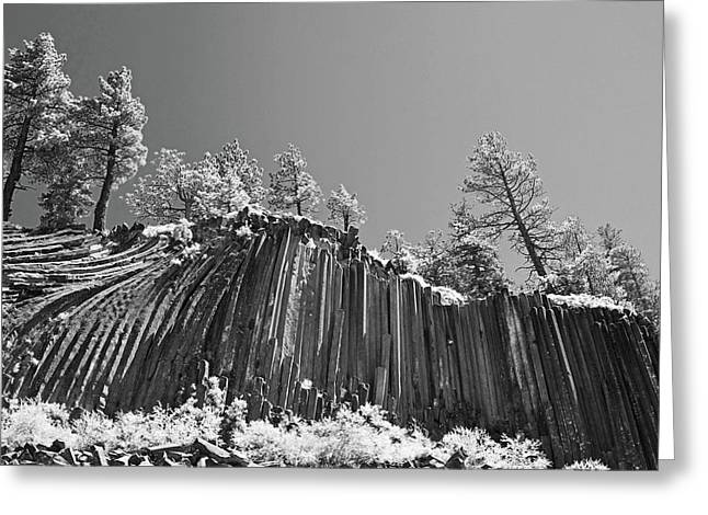Arts Greeting Cards - Devils Postpile - Frozen columns of lava Greeting Card by Christine Till