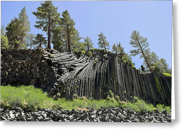 Woodpile Greeting Cards - Devils Postpile - Talk about natural wonders Greeting Card by Christine Till