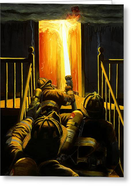 Flame Greeting Cards - Devils Stairway Greeting Card by Paul Walsh