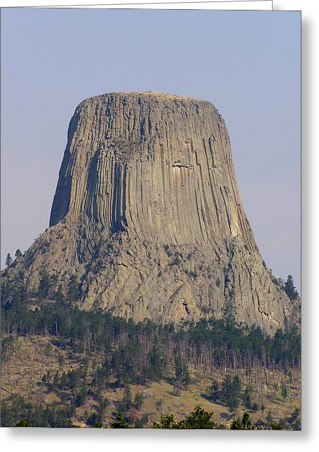 Monolith Greeting Cards - Devils Tower IV Greeting Card by Mark Caldwell