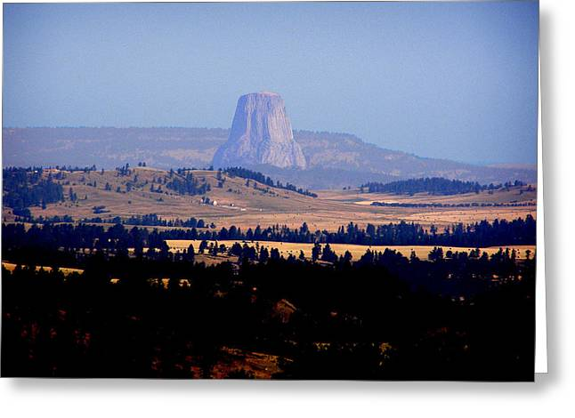 Monolith Greeting Cards - Devils Tower Greeting Card by Mark Caldwell
