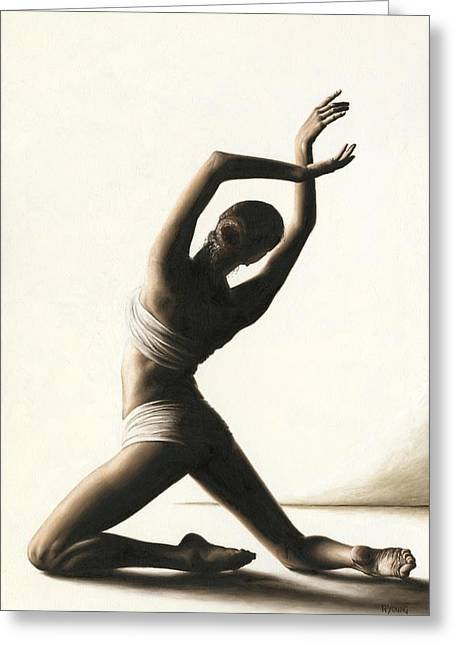 Ballet Dancers Paintings Greeting Cards - Devotion to Dance Greeting Card by Richard Young