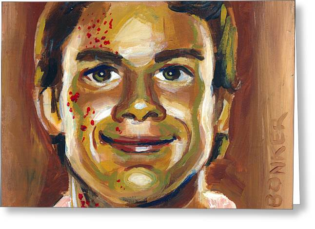 Michael C Hall Greeting Cards - Dexter Greeting Card by Buffalo Bonker