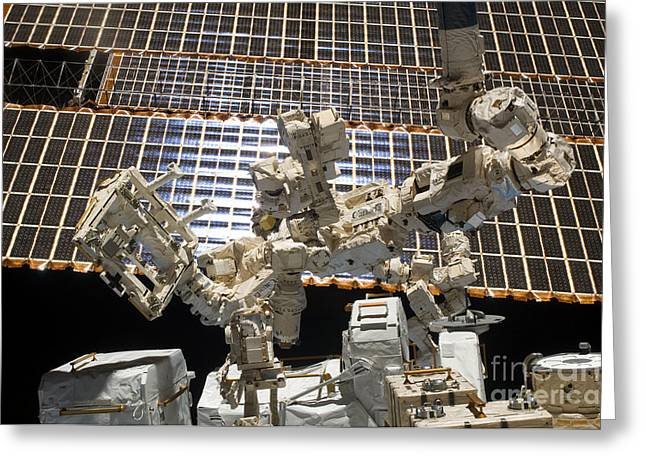 Dexterous Greeting Cards - Dextre, The Canadian Space Agencys Greeting Card by Stocktrek Images