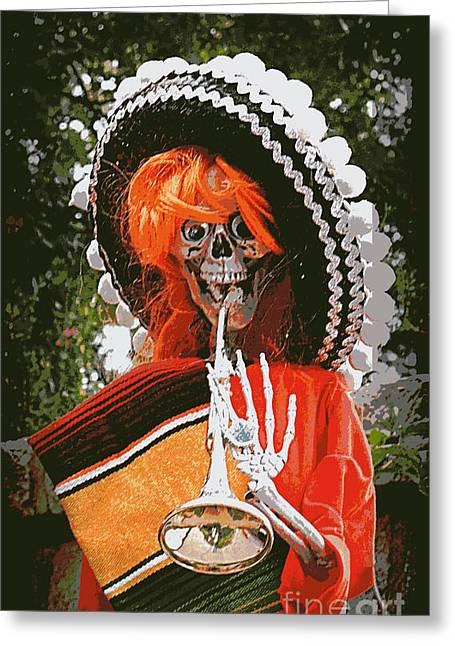 Dia De Los Muertos 1 Greeting Card by Renee Trenholm