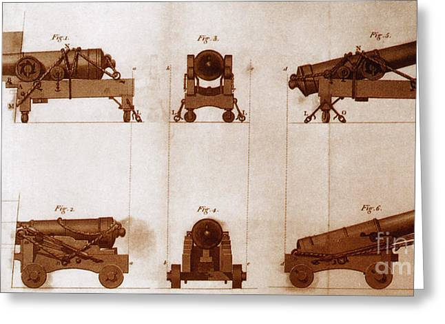 Mounting Greeting Cards - Diagrams Of Canons Greeting Card by Science Source