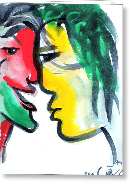 Dialogue Greeting Cards - Dialogos 3 Greeting Card by Jorge Berlato
