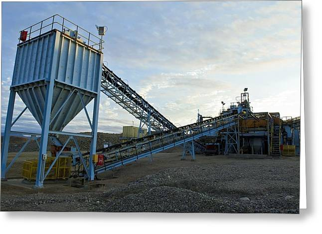 Conveyor Belt Greeting Cards - Diamond Mine Greeting Card by Peter Chadwick