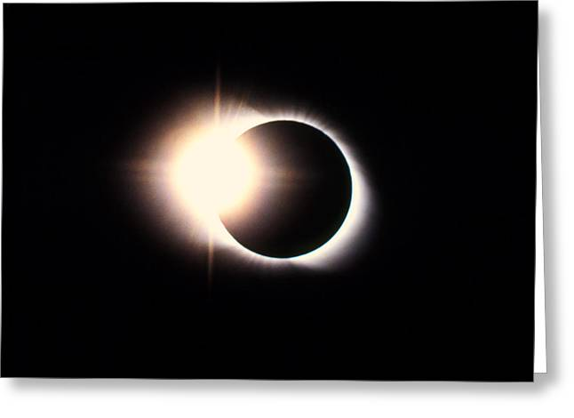 Solar Eclipse Greeting Cards - Diamond Ring Effect, Total Solar Eclipse Greeting Card by Rev. Ronald Royer