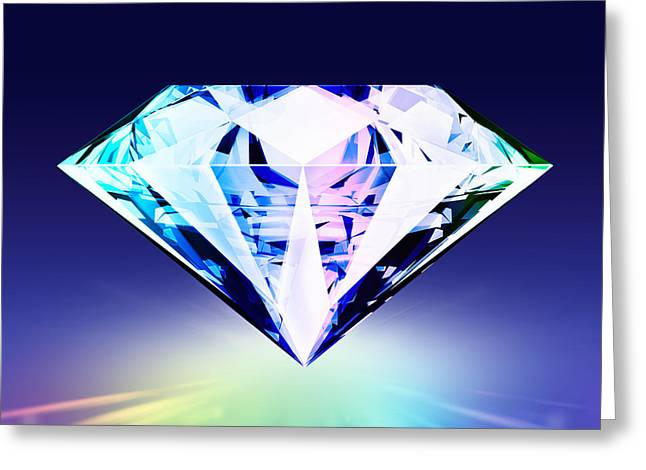 Wealth Digital Greeting Cards - Diamond Greeting Card by Setsiri Silapasuwanchai