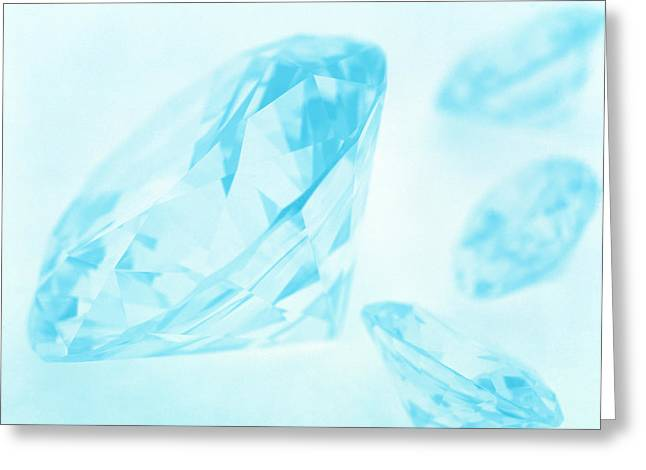 Valuable Greeting Cards - Diamonds Greeting Card by Lawrence Lawry
