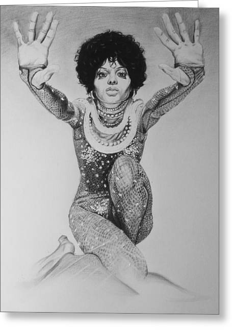 Diana Ross Greeting Cards - Diana Ross Greeting Card by Steve Hunter