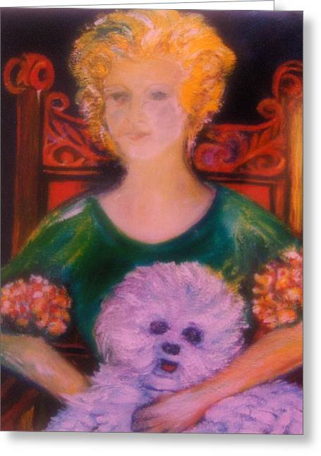 Gay Art Framed Giclee On Canvas Greeting Cards - DIANNAs Love Greeting Card by Gunter  Hortz