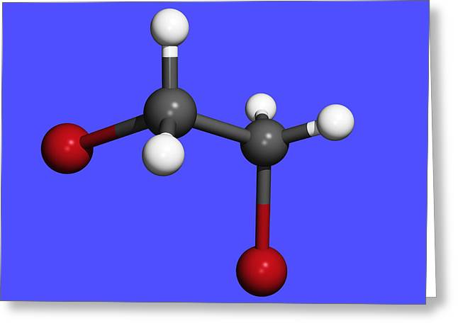 Organic Compound Greeting Cards - Dibromoethane Molecule Greeting Card by Dr Tim Evans
